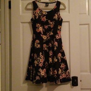 black floral tank dress